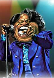 Caricature James Brown